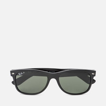 Солнцезащитные очки Ray-Ban New Wayfarer Classic Gloss Black/Black/Green Classic G-15 фото- 0