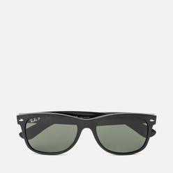 Солнцезащитные очки Ray-Ban New Wayfarer Classic Gloss Black/Black/Green Classic G-15