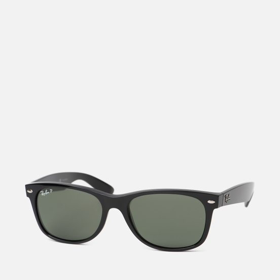 Солнцезащитные очки Ray-Ban New Wayfarer Classic Polarized Gloss Black/Black/Green Classic G-15