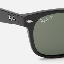 Солнцезащитные очки Ray-Ban New Wayfarer Classic Gloss Black/Black/Green Classic G-15 фото- 2