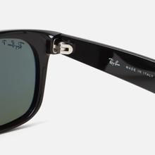 Солнцезащитные очки Ray-Ban New Wayfarer Classic Gloss Black/Black/Green Classic G-15 фото- 3