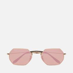 Солнцезащитные очки Ray-Ban Octagonal Flash Lenses Gold/Copper Flash