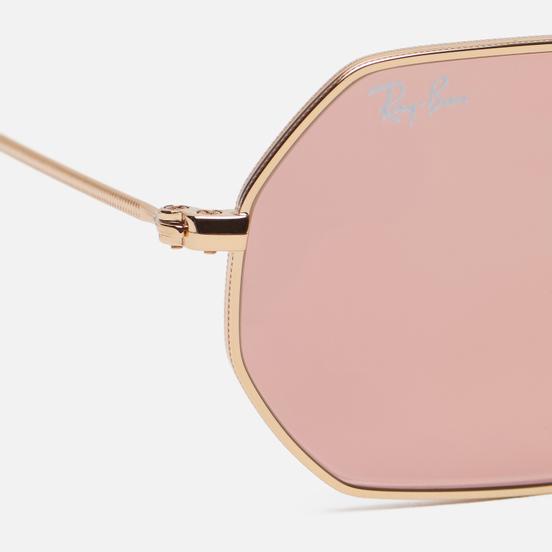 Солнцезащитные очки Ray-Ban Octagonal Flash Lenses Gold/Copper Flash