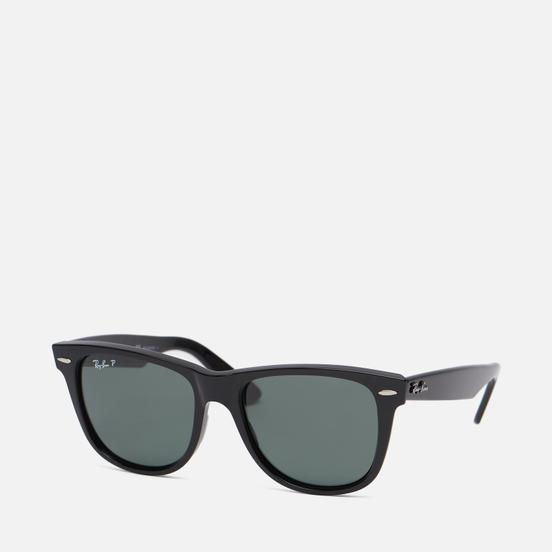 Солнцезащитные очки Ray-Ban Original Wayfarer Classic Gloss Black/Black/Polarized Green Classic G-15