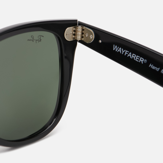 Солнцезащитные очки Ray-Ban Original Wayfarer Classic Polished Black/Black/Polarized Green Classic G-15