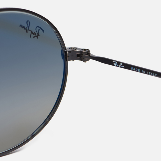 Солнцезащитные очки Ray-Ban Oval Flat Lenses Black/Grey Gradient