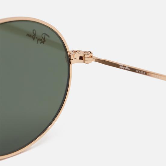 Солнцезащитные очки Ray-Ban Oval Flat Lenses Polished Gold/Green Classic G-15