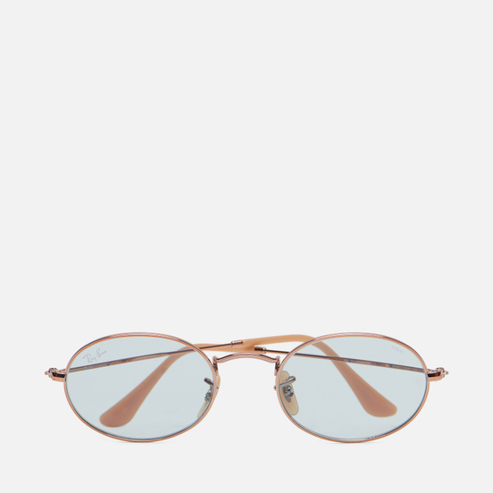 Солнцезащитные очки Ray-Ban Oval Washed Evolve Copper/Bronze-Copper/Light Blue Photochromic Evolve