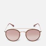 Солнцезащитные очки Ray-Ban Round Double Bridge Gold/Copper Gradient Flash фото- 0