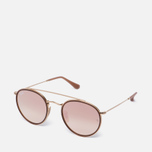 Солнцезащитные очки Ray-Ban Round Double Bridge Gold/Copper Gradient Flash фото- 1