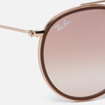 Солнцезащитные очки Ray-Ban Round Double Bridge Gold/Copper Gradient Flash фото- 2