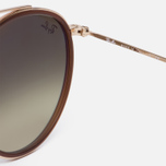 Солнцезащитные очки Ray-Ban Round Double Bridge Gold/Copper Gradient Flash фото- 3