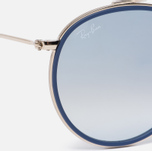 Солнцезащитные очки Ray-Ban Round Double Bridge Gold/Gradient Brown/Mirror Silver фото- 2