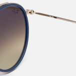 Солнцезащитные очки Ray-Ban Round Double Bridge Gold/Gradient Brown/Mirror Silver фото- 3