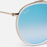 Солнцезащитные очки Ray-Ban Round Double Bridge Gold/Mirror Blue фото- 2