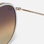 Солнцезащитные очки Ray-Ban Round Double Bridge Gold/Mirror Blue фото- 3