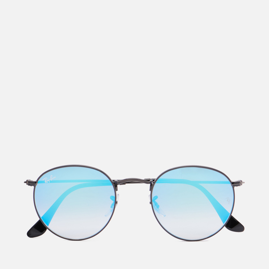 Солнцезащитные очки Ray-Ban Round Flash Lenses Gradient Black/Blue Gradient Flash