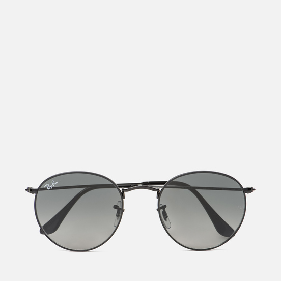 Солнцезащитные очки Ray-Ban Round Flat Lenses Polished Black/Grey Gradient