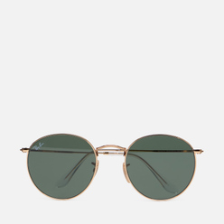 Солнцезащитные очки Ray-Ban Round Flat Lenses Polished Gold/Green Classic G-15