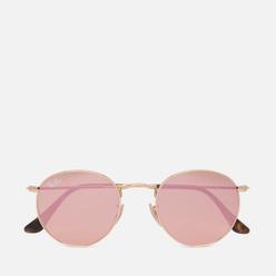 Солнцезащитные очки Ray-Ban Round Flat Lenses Shiny Gold/Copper Flash