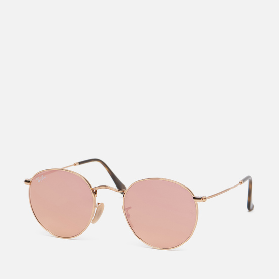 Солнцезащитные очки Ray-Ban Round Flat Lenses Shiny Gold/Copper Flash