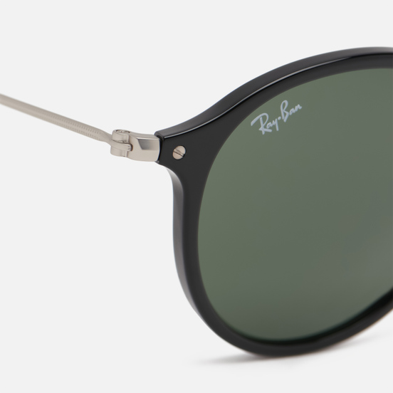 Солнцезащитные очки Ray-Ban Round Fleck Polished Black/Silver/Green Classic G-15