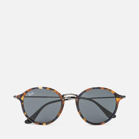 Солнцезащитные очки Ray-Ban Round Fleck Tortoise/Gunmetal/Blue/Gray Classic