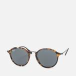 Солнцезащитные очки Ray-Ban Round Fleck Tortoise/Gunmetal/Blue/Gray Classic фото- 1