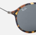 Солнцезащитные очки Ray-Ban Round Fleck Tortoise/Gunmetal/Blue/Gray Classic фото- 2