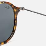 Солнцезащитные очки Ray-Ban Round Fleck Tortoise/Gunmetal/Blue/Gray Classic фото- 3