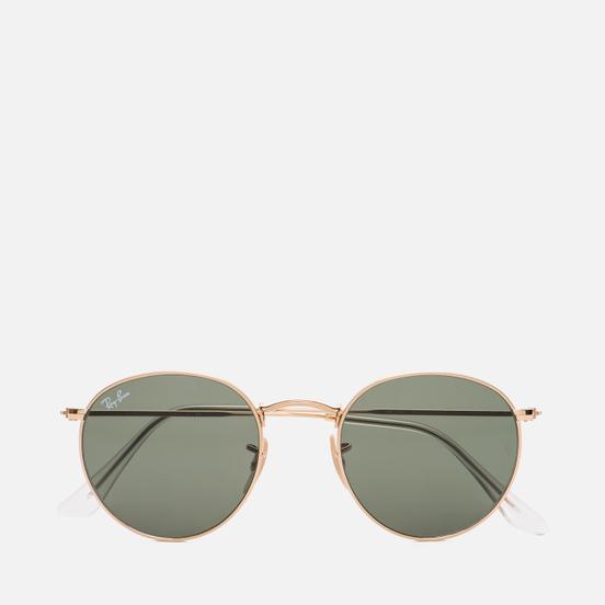 Солнцезащитные очки Ray-Ban Round Metal Polished Gold/Green Classic G-15