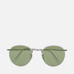 Солнцезащитные очки Ray-Ban Round Metal Legend Gold Silver/Light Green Classic