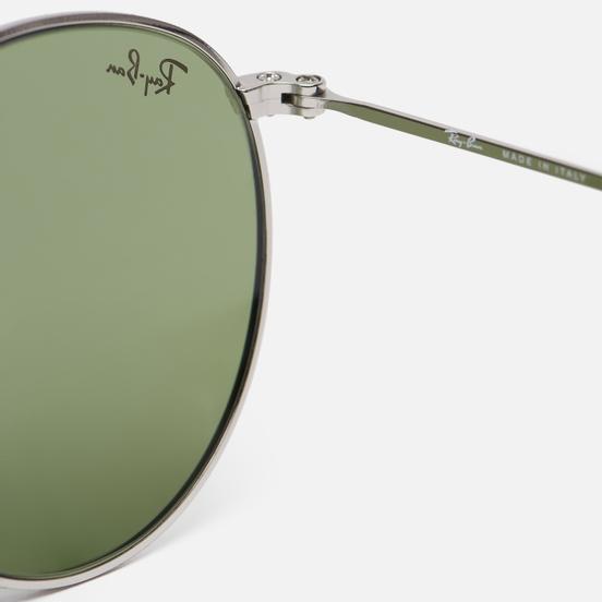 Солнцезащитные очки Ray-Ban Round Metal Legend Gold Silver/Light Green Classic