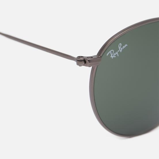 Солнцезащитные очки Ray-Ban Round Metal Matte Gunmetal/Green Classic G-15