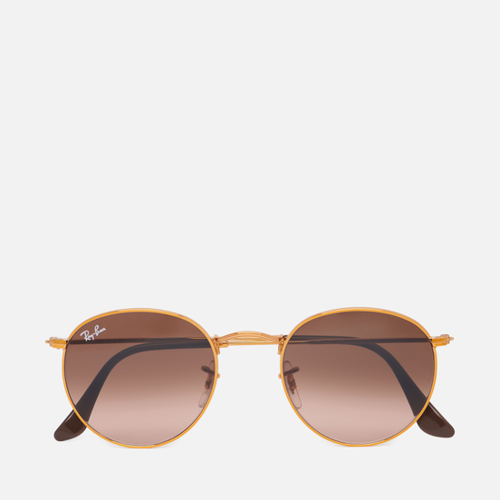 Солнцезащитные очки Ray-Ban Round Metal Polished Bronze-Copper/Pink/Brown Gradient