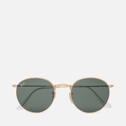 Солнцезащитные очки Ray-Ban Round Metal Polished Gold/Green Classic G-15