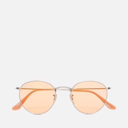 Солнцезащитные очки Ray-Ban Round Metal Silver/Orange