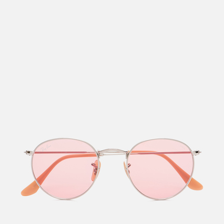 Солнцезащитные очки Ray-Ban Round Metal Silver/Pink Photochromic