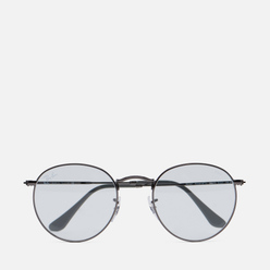 Солнцезащитные очки Ray-Ban Round Solid Evolve Gunmetal/Light Blue/Dark Violet Photochromic Evolve