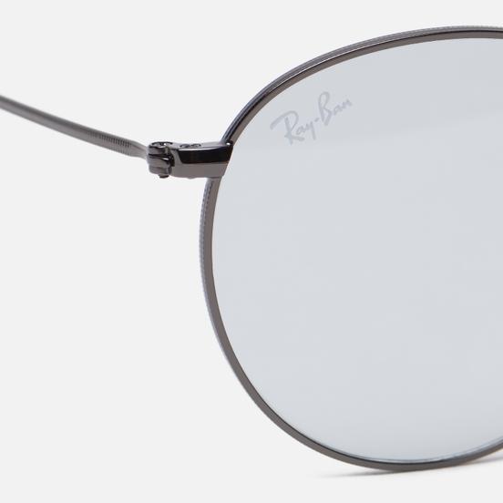 Солнцезащитные очки Ray-Ban Round Solid Evolve Gunmetal/Light Blue/Dark Violet Photochromic Evolve
