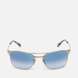 Солнцезащитные очки Ray-Ban Signet Gold/Light Blue Gradient фото- 0