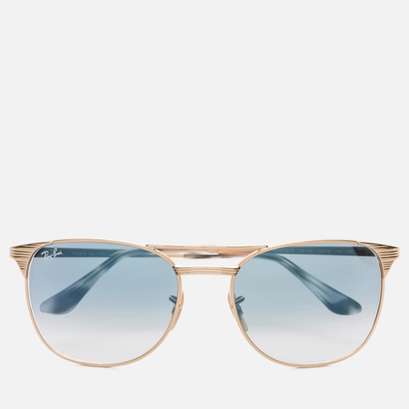 Солнцезащитные очки Ray-Ban Signet Gold/Light Blue Gradient