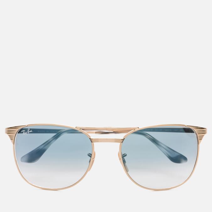 Солнцезащитные очки Ray-Ban Signet Gold/Light Blue Gradient