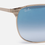 Солнцезащитные очки Ray-Ban Signet Gold/Light Blue Gradient фото- 2