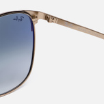 Солнцезащитные очки Ray-Ban Signet Gold/Light Blue Gradient фото- 3