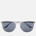 Солнцезащитные очки Ray-Ban Signet Silver/Blue/Grey Classic фото- 0