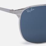 Солнцезащитные очки Ray-Ban Signet Silver/Blue/Grey Classic фото- 2