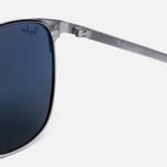 Солнцезащитные очки Ray-Ban Signet Silver/Blue/Grey Classic фото- 3