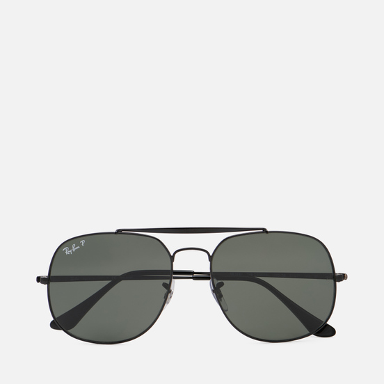 Солнцезащитные очки Ray-Ban The General Black/Polarized Green Classic G-15