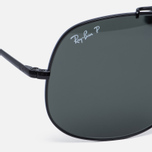 Солнцезащитные очки Ray-Ban The General Black/Polarized Green Classic G-15 фото- 2